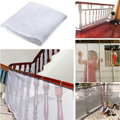 Eg_ Safety Child Railnet Net Pet Guard Baby Stair Balcony Deck Gate Dog Mesh Str
