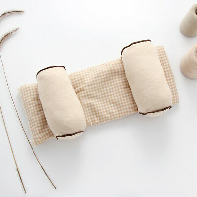Eg_ Infant Newborn Baby Grid Head Support Cushion Pad Soft Cotton Shaping Pillow