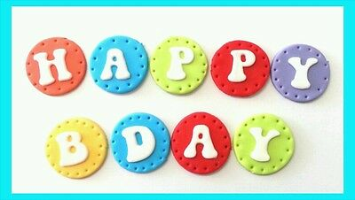 12 edible letter disc cake cupcake topper birthday