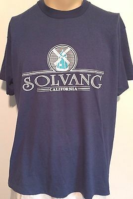 TRUE VINTAGE 1980's-90's BEST, SOLVANG, CALIFORNIA, WINDMILL 50/50 USA SHIRT XL