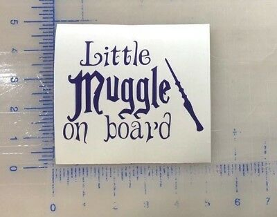 Little Muggle on Board Vinyl Decal Harry Potter Wizard Baby FREE SHIPPING Window