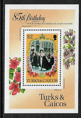 Turks and Caicos #679 MNH S/Sheet - Queen Mother's 85th Birthday
