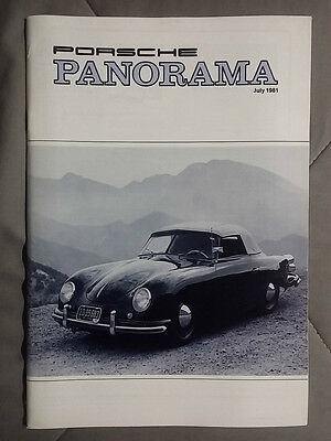 1981 July Porsche Panorama Magazine Carrera 911 928 944 924 356 Turbo