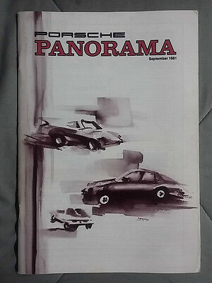 1981 September Porsche Panorama Magazine Carrera 911 928 944 924 356 Turbo