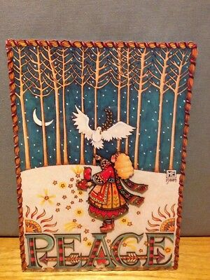 Cards To Keep Mary Engelbreit 'Peace' Dove Christmas Card Wooden - Table/Wall