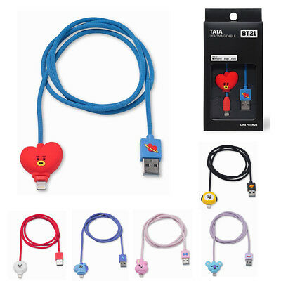 Official Bt21 Lightning Cable Linefriends Charging Cable Character Bts Authentic