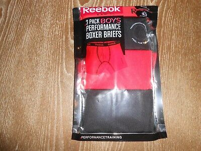 !!! Great Deal On 3 Pack Of Boy's Reebok Performance Boxer Briefs Size M 8/10 !!