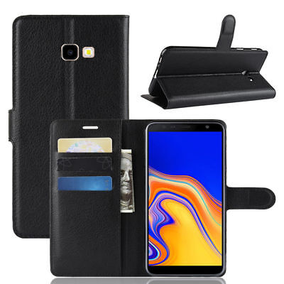 For Samsung Galaxy J4 Plus / J4 + Flip Magnetic Wallet PU Leather Case Cover