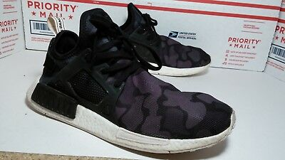 1c88a75fd Used Adidas NMD XR1 Core Black Duck Camo Mesh White BA7231 NMD XR1 Mens  Size 11