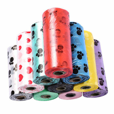 150pcs 10Roll Degradable Pet Waste Poop Bags Dog Cat Clean Up Refill Garbage bag