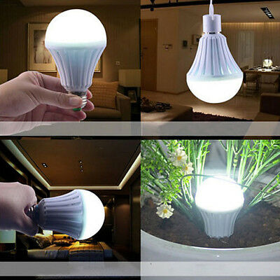 Energy-Saving Intelligent Emergency Rechargeable Lamp Household Outdoor LED Bulb