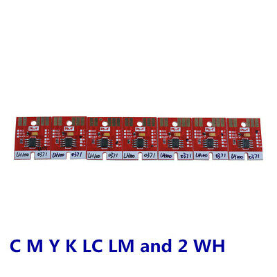 Mimaki LH100-0371 / UJF3042 UV Cartridge Chip Permanent CMYK LC LM and 2 WH