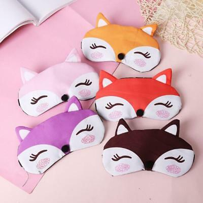 Cute Cartoon Fox Sleep Eye Mask Travel Relax Blindfold Elastic Belt Eyepatch T