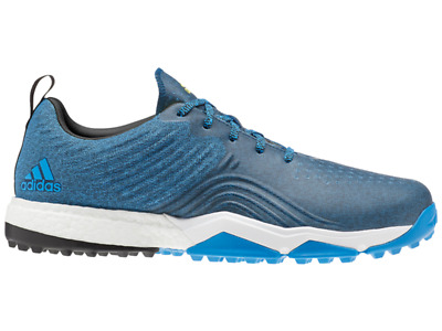 Adidas Adipower 4orged S Golf Shoes - Bright Blue/Core Black -  Mens