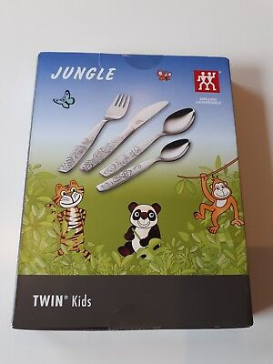 Zwilling Kinderbesteck NEU IN OVP Besteck Kinder 4 tlg. Jungle Twin Kids