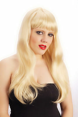 Christmas Womens Blonde Long Fringe Wig Cosplay Adult Fancy Dress Costume Gift