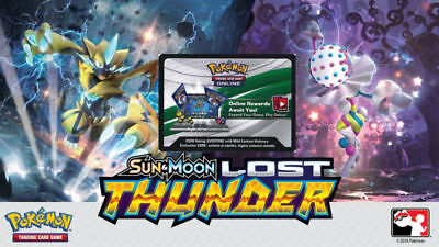 50x Lost Thunder Unused Pokemon Online Booster Codes In Hand Emailed
