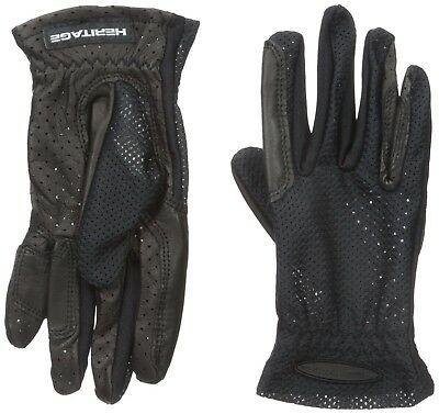 (7, Black) - Heritage Pro-Flow Summer Show Glove. Heritage Products