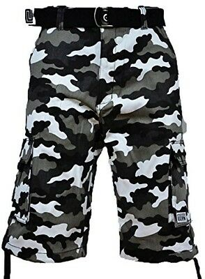 (44) - Pro Club Men's TWILL CARGO SHORT PANTS - City Camo. Free Delivery
