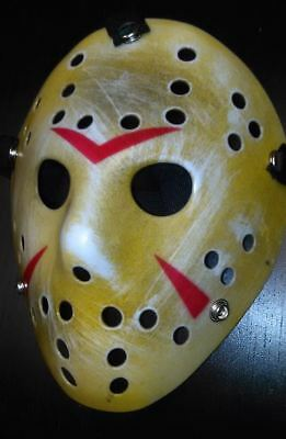 Friday the 13th Hockey Mask US SELLER Halloween Jason DISTRESSED Aged Look SALE!