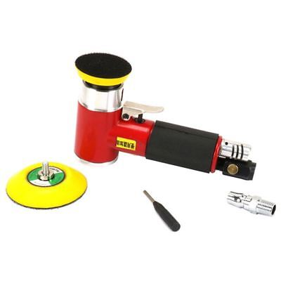 "2"" 3"" Mini Air Sander Kit Pad Eccentric Orbital Dual Action Pneumatic Polis T3M8"