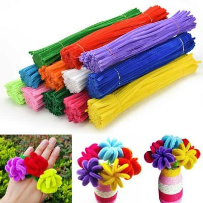 100PCS Chenille Craft Stems Pipe Cleaners 30cmx 6mm Kids Craft DIY Supply
