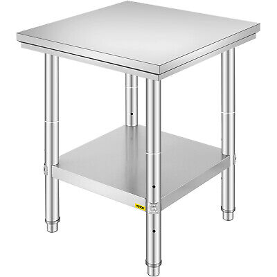 "24"" x 24"" Stainless Steel Kitchen Work Prep Table Cafeteria Commercial NSF"