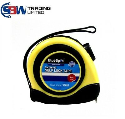 5m Tape Measure Soft Grip Measuring Tape Self-Lock 5m/16ft 33012