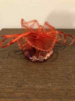 Red Round Organza Bag 26cm Gauze Bag Jewellery Wedding Candy Packaging Gift Bag