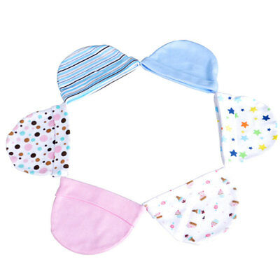 Eg_ 3Pcs/Set Newborn Baby Lovely Printed Cotton Hat Warm Cap Photography Props N