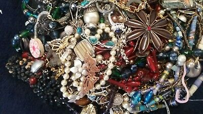 Large Job Lot Of Broken Costume Jewellery