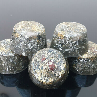 10 Orgone Energy 23k Gold Towerbuster Grounding 5G EMF Shungite Quartz 46mhz