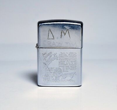 Vintage Engraved COCA-COLA Zippo Man' s Lighter Collectible