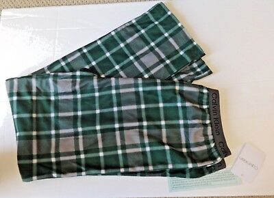 Boys Calvin Klein Lounge Pajama Pants Size 16/18 Green Plaid
