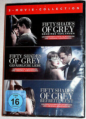 DVD - 50 Shades of Grey - Fifty Shades of Grey Movie Collection Teil 1-3 - NEU -