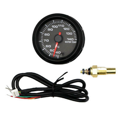 52mm Car Racing Modified Water Temperature Gauge with Water Temp Sensor