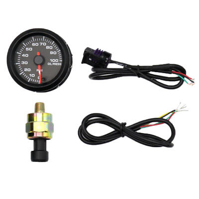 52mm Car Racing Modified Oil Pressure Gauge with Oil Pressure Sensor