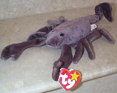 Beanie Babies Baby Ty Stinger the Scorpion Insect 1997 Retired Collectible