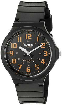 Casio Men's Easy To Read Quartz Casual Black Resin Band 44mm Watch MW240-4BV