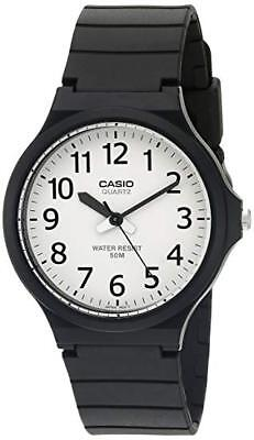 Casio Men's Quartz 'Easy To Read' White Dial Black Resin 43.5mm Watch MW240-7BV