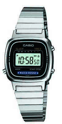 Casio Classic Women's Quartz Digital Silver-Tone Bracelet 25mm Watch LA670WA-1