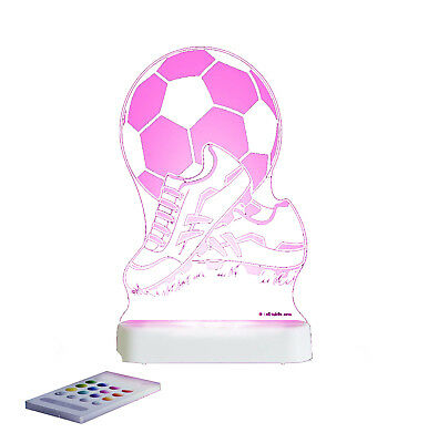 Aloka Colour Changing Rainbow Therapy Nightlight with Timer - Football & Boots