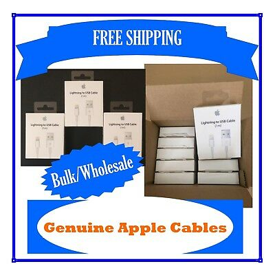 Wholesale Genuine original Apple iphone cables in retail box *BULK* x20