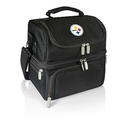 NFL Pittsburgh Steelers Pranzo Insulated Lunch Tote, Black, 12 x 28cm x 20cm