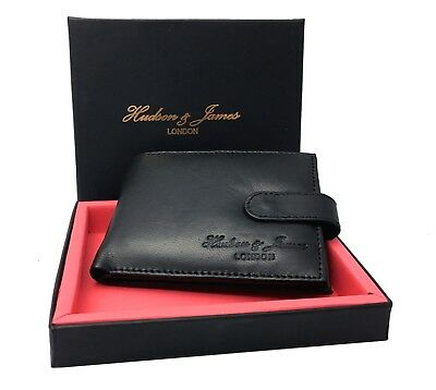 Mens Designer Leather Wallet RFID SAFE ID Protection Contactless Card Blocking