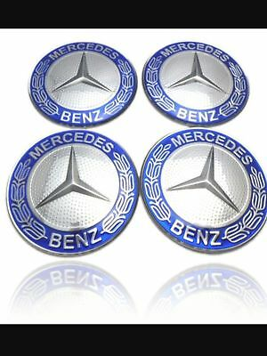 Mercedes Benz Alloy Wheel Center Caps Stickers 56 mm x 4 Fits Mercedes Benz