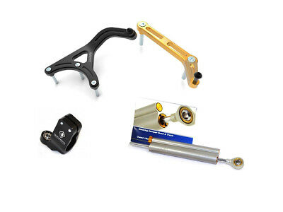 Ducabike Ducati Multistrada 950 1200 1260 Steering Damper Kit - Black-Gold