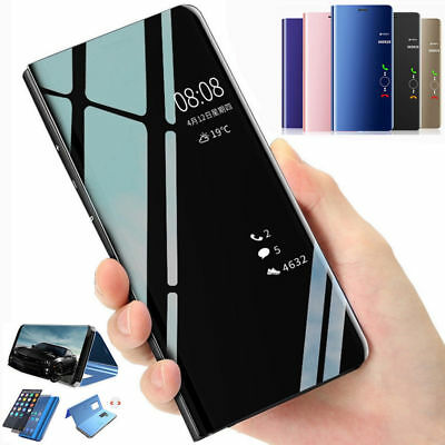 the best attitude 56e5a cb199 SMART MIRROR LEATHER Case for Huawei Honor 8X Max View Flip Stand Phone  Cover