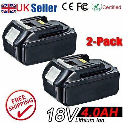 2x 4.0AH 18V Battery For Makita BL1840 BL1830 BL1815 LXT Lithium Ion Cordless RB