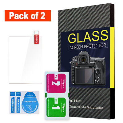 (Pack of 2) Screen Protector Tempered Glass w/ Top LCD Film for Nikon Z7 Z6